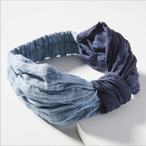 NWOT Anthropologie Blue Hair Band